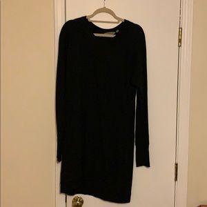 Athleta black cross cross sweatshirt dress size L